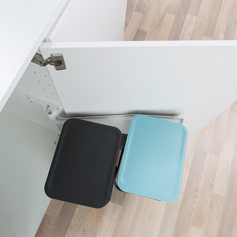 Brabantia Sort & Go lajitteluastia keittiön kaappiin 2×16